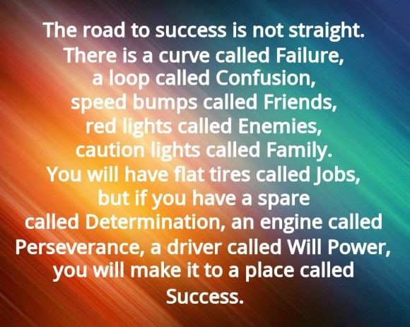 The road to success.