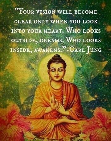 Who looks outside, dreams.  Who looks inside, awakens.