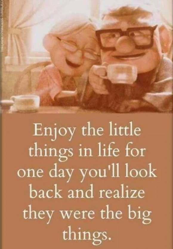 Enjoy the little things :) · MoveMe Quotes