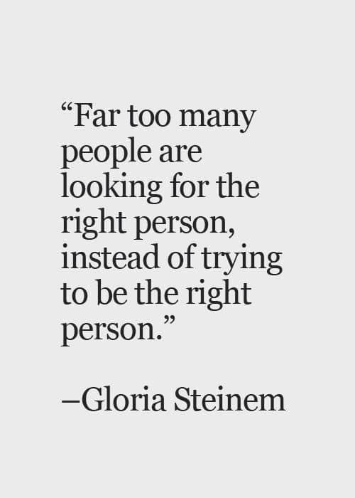Stop looking, start becoming.