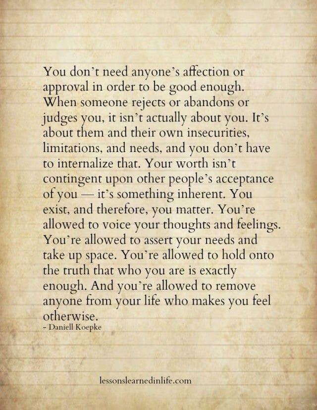 Good Enough Quotes You are already good enough. · MoveMe Quotes Good Enough Quotes