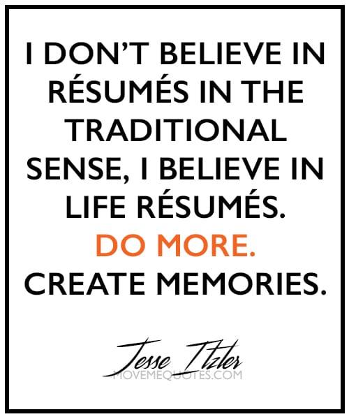 Life Resumes.