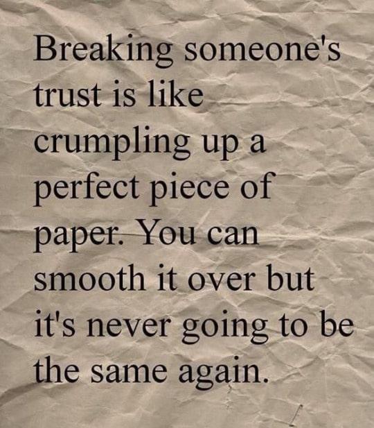 Trust is #1.