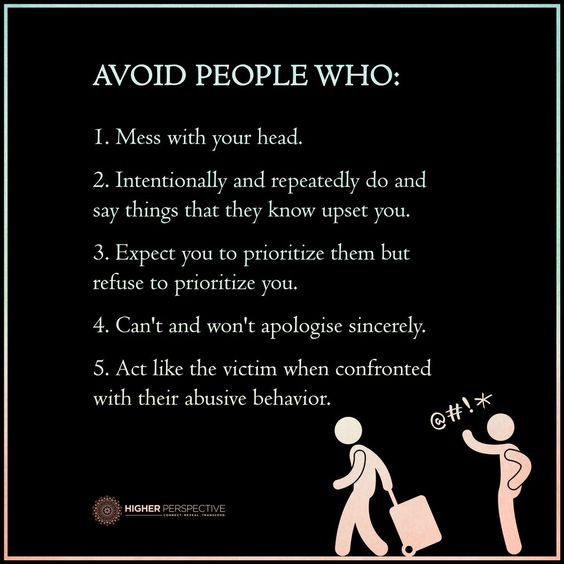 Who to avoid: