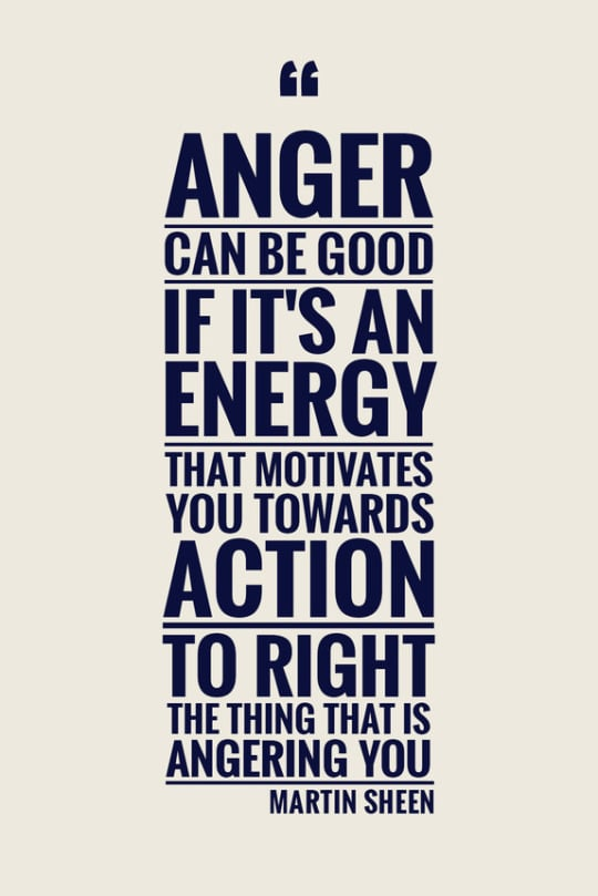 When anger can be good: